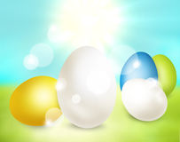 Festive easter eggs design. Modern festive graphic Stock Image