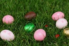 Festive easter eggs stock photography