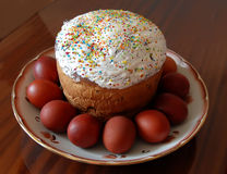 Festive Easter and eggs Royalty Free Stock Photo