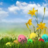 Festive Easter greeting card. Image of a festive Easter greeting card Stock Photos
