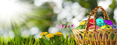 Festive Easter greeting card. Image of a festive Easter greeting card Stock Image
