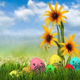 Festive Easter greeting card. Image of a festive Easter greeting card Stock Photo