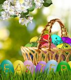 Festive Easter greeting card. Image of a festive Easter greeting card Stock Images