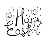 Festive Easter lettering. With egg-shaped angels and polka dot elements Royalty Free Stock Image