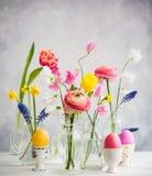 Festive Easter Table Stock Image