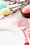 Festive Easter Table Setting Stock Images