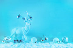 Festive elegant winter christmas background in blue or turquoise royalty free stock image