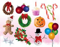 Festive Element. For occasions and celebrations Stock Image