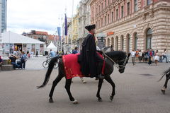 Festive equestrian parade on the occasion of Veterans of the City of Zagreb. Zagreb, Croatia: feb 17. 2017 - Festive equestrian parade on the occasion of Stock Images