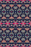 Festive ethnic striped ornamental seamless pattern in indian style. Vector illustration Royalty Free Stock Photos