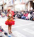 Carnaval de Torrevieja 2018. Festive event carnival in torrevieja on the Costa Blanca Spain. 20018, FEBRUARY 11 Royalty Free Stock Photo