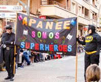 Carnaval de Torrevieja 2018. Festive event carnival in torrevieja on the Costa Blanca Spain. 20018, FEBRUARY 11 Royalty Free Stock Photography