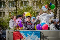Festive events on may 8, 2019 in Nevsky district of St. Petersburg, Russia. royalty free stock photography