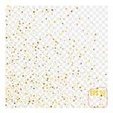 Festive explosion of confetti. Gold glitter background.. Festive explosion of confetti. Gold glitter background. Golden dots. Vector illustration polka dot Royalty Free Stock Photo