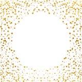 Festive explosion of confetti. Gold glitter background. Golden dots. Vector illustration polka dot . Festive explosion of confetti. Gold glitter background Royalty Free Stock Photos