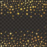 Festive explosion of confetti. Gold glitter background. Golden dots. Vector illustration polka dot . Festive explosion of confetti. Gold glitter background Stock Photo