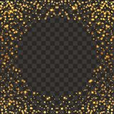 Festive explosion of confetti. Gold glitter background. Golden dots. Vector illustration polka dot . Gold, glitter abstract background. Cool pattern. Patina Stock Image