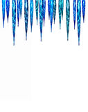 Festive facet lights as icicles Stock Photos