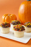 Festive Fall Cupcakes Stock Photography