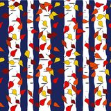 Festive Fall Repeat Seamless Pattern Vector Print royalty free illustration