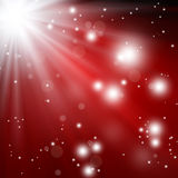 Festive fantasy, background bokeh. With rays and stars Royalty Free Stock Photo
