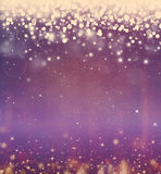 Festive fantasy, bokeh background. Beautiful Christmas background bokeh with stars Stock Photo