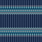Festive and Fashionable Sweater Design. Seamless Knitted Pattern. Seamless Pattern on the Wool Knitted Texture. EPS available Royalty Free Stock Photos
