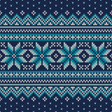 Festive and Fashionable Sweater Design. Seamless Knitted Pattern Stock Photography