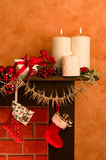 Festive Fireplace Royalty Free Stock Images