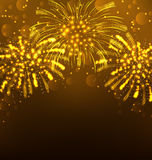 Festive Firework Bursting, Holiday Background Stock Photo