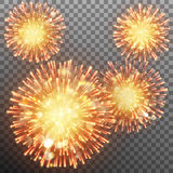 Festive firework effect. EPS 10 vector. Festive firework effect sparkling against transparent background. And also includes EPS 10 vector Stock Photography