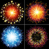 Festive fireworks Stock Photo