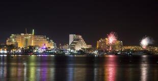 Free Festive Fireworks At Eilat, Israel Royalty Free Stock Photo - 22636465