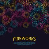 Festive fireworks background. Abstract vector illustration. EPS10 Royalty Free Stock Photography