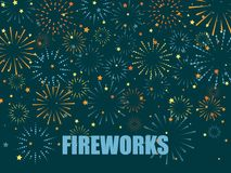 Festive fireworks background. Abstract vector illustration. EPS10 Stock Photo