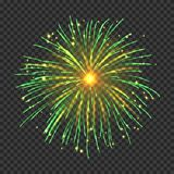 Festive fireworks with bright golden sparks stock images