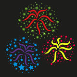Festive Fireworks. Bright Festive fireworks, vector illustration Stock Image