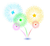 Festive Fireworks. Celebrating Christmas/New Year/National Holidays Concept. Illustration of Festive Fireworks. Celebrating Christmas/New Year/National Holidays Stock Photo