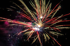 Festive fireworks. Royalty Free Stock Photography