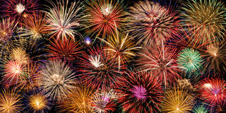 Festive fireworks display Stock Photo