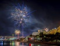 Festive fireworks in Eilat Royalty Free Stock Photos