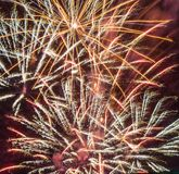 Festive fireworks. stock photo