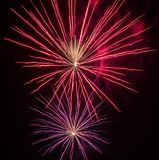 Festive fireworks. stock photography