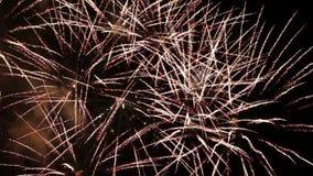 Festive fireworks stock video