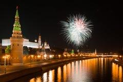 Festive fireworks Stock Photos