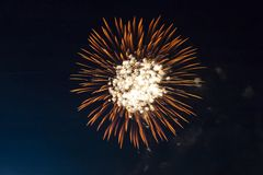 Fireworks, shooting rockets and fire royalty free stock images