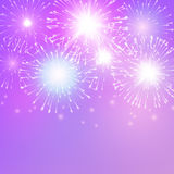 Festive fireworks. Vector. Festive fireworks on a light background Royalty Free Stock Images