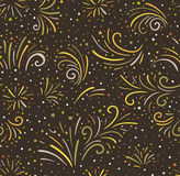 Festive fireworks vector seamless background. Seamless pattern Royalty Free Stock Image