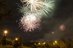 Festive fireworks. Festive fireworks on victory day Royalty Free Stock Image