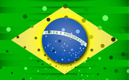 Festive flag of Brazil. Vector illustration Stock Photography
